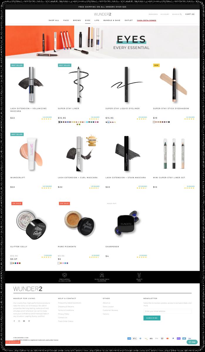 Wunder2 Shopify Plus website