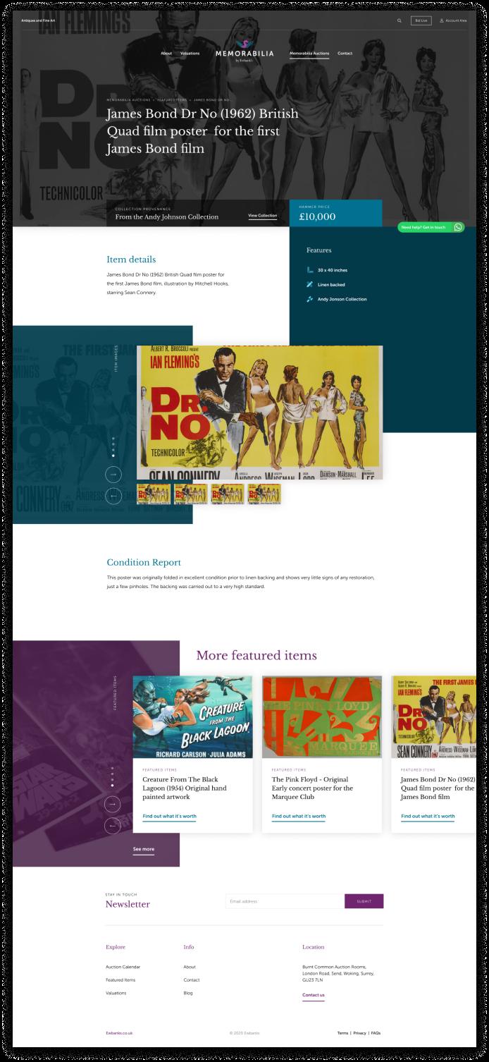 Ewbanks Auctioneers website redesign
