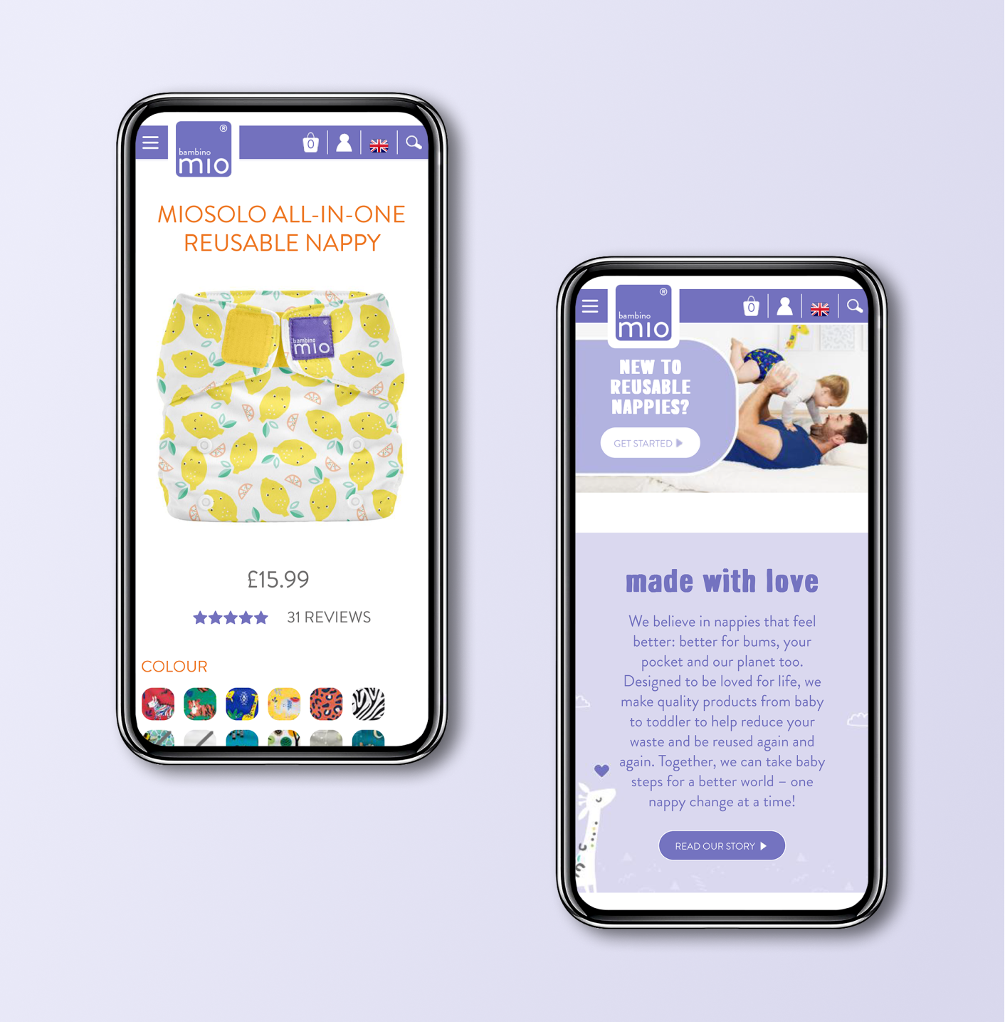 Shopify Plus website on mobile