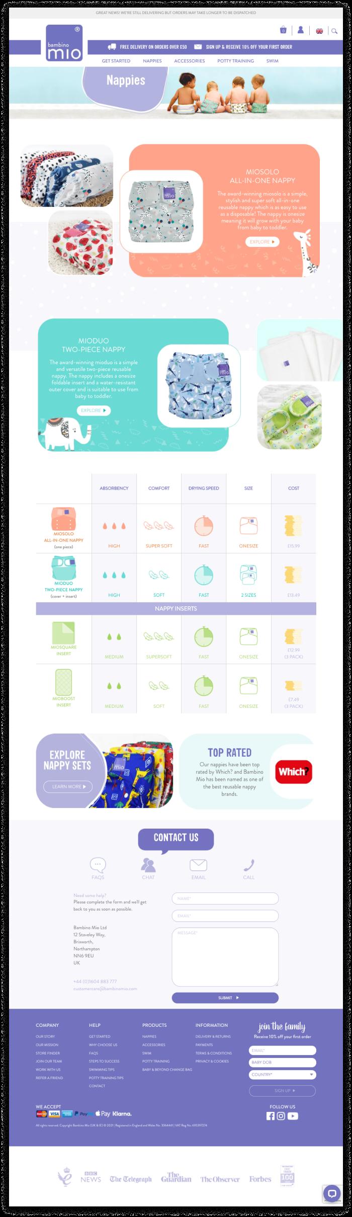 Bambino Mio Shopify Plus website