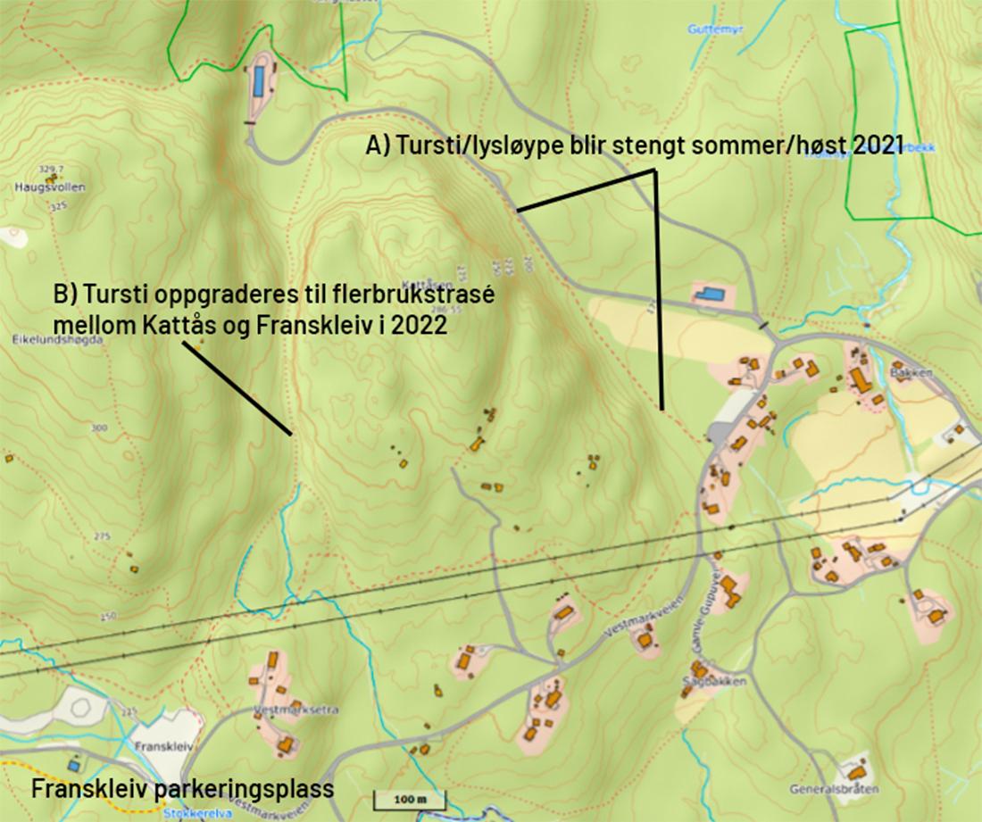 kart over turstier