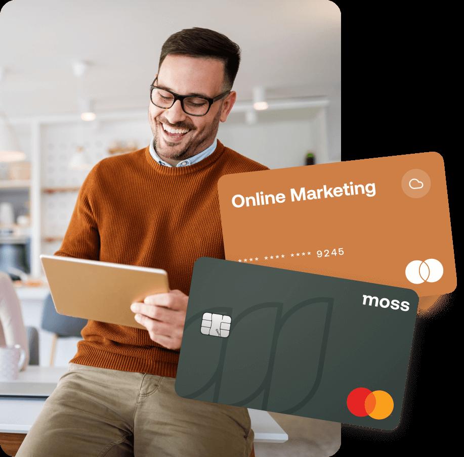 Firmenkreditkarten für Ausgaben wie Online Marketing