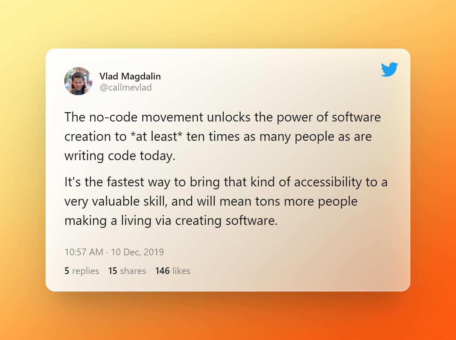 Tweet by Vlad Magdalin