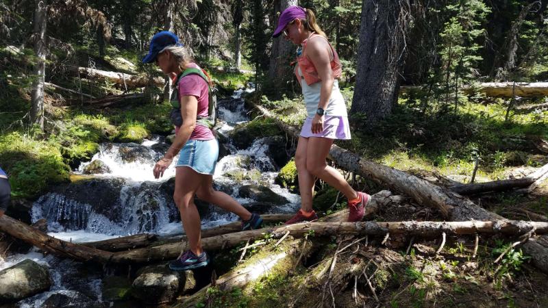 Alpine Running Guides creek crossing