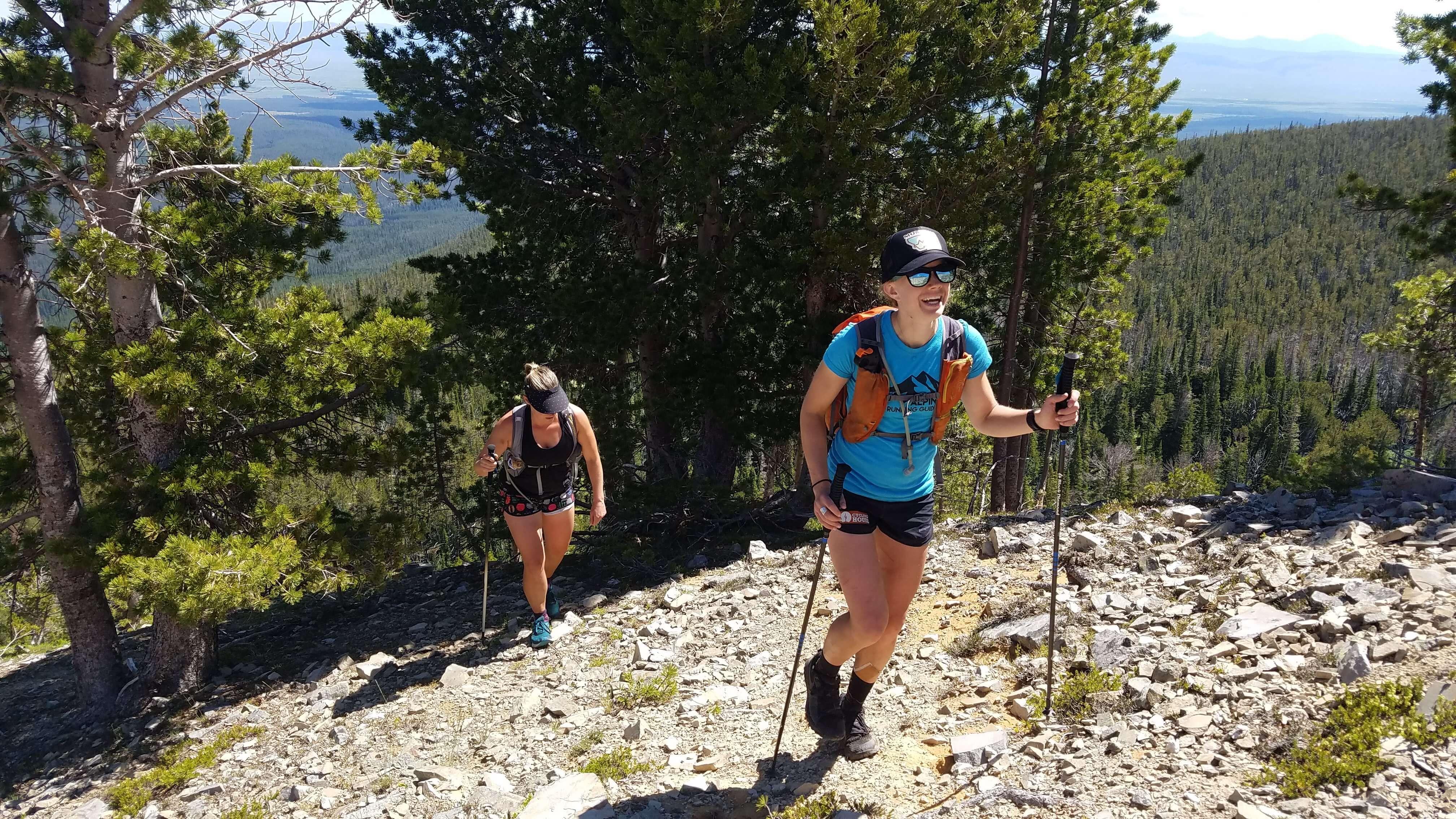 Alpine Running Guides enjoying the climb