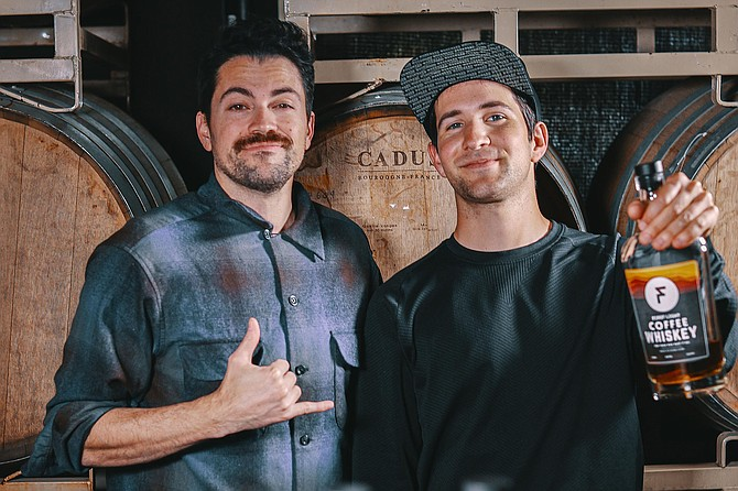 Ryan Espinoza and David Elizondo are the family members behind First Light Coffee Whiskey.