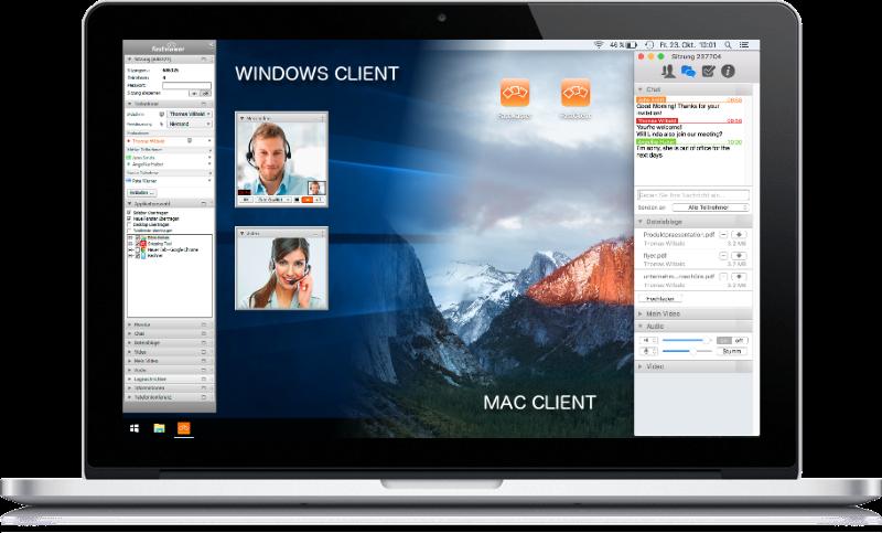 Ein geöffnetes Notebook mit aktiver Fernwartungssoftware.