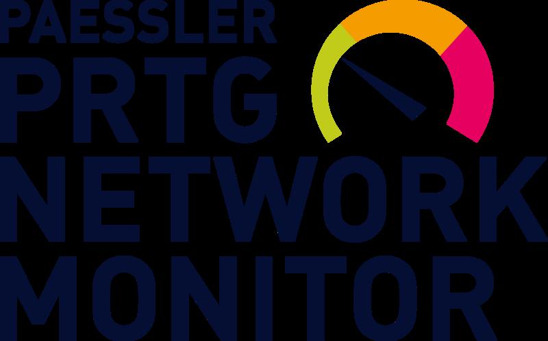 """Ein Schaubild mit der Aufschrift """"PAESSLER PRTG NETWORK MONITOR""""."""