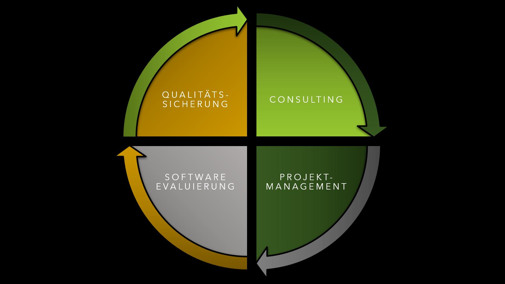 Schaubild zum Leistungsumfang der IT-Beratung von PORTFORMANCE GmbH.