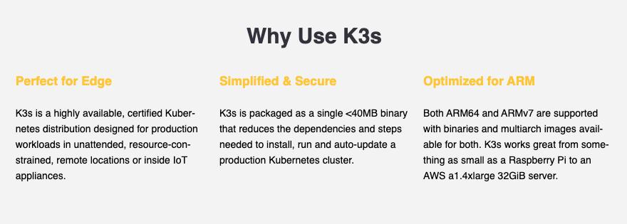Benefits of K3s