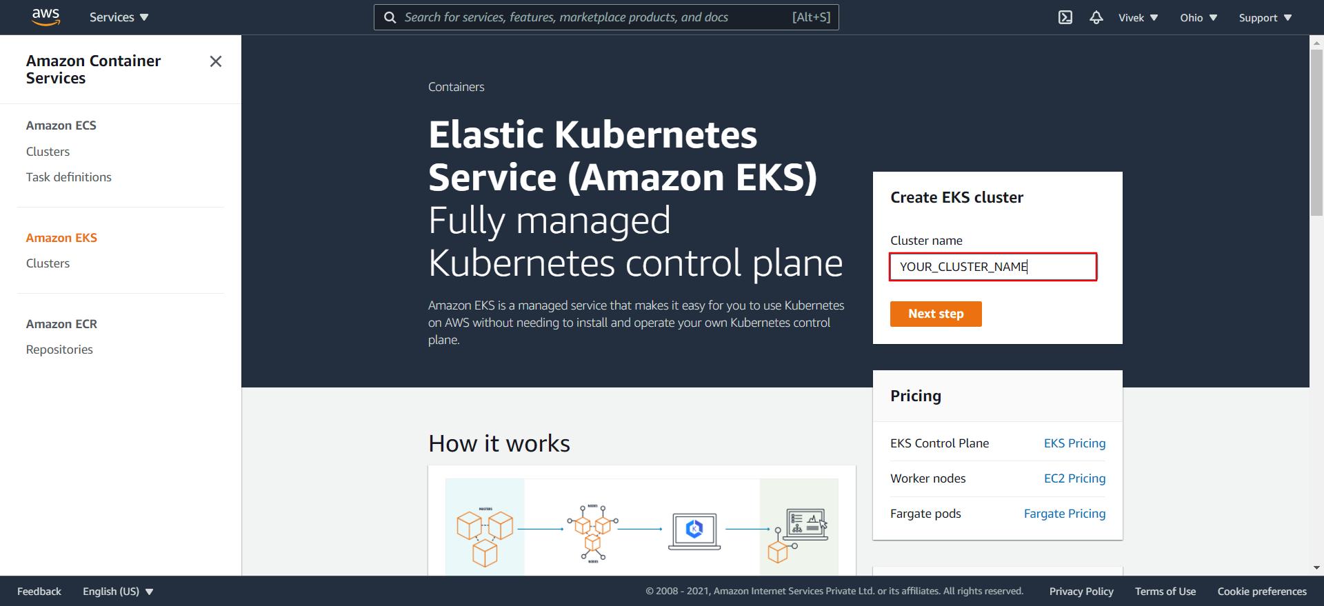 EKS Home Page