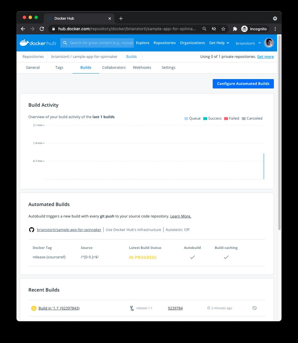 Docker Hub building new image