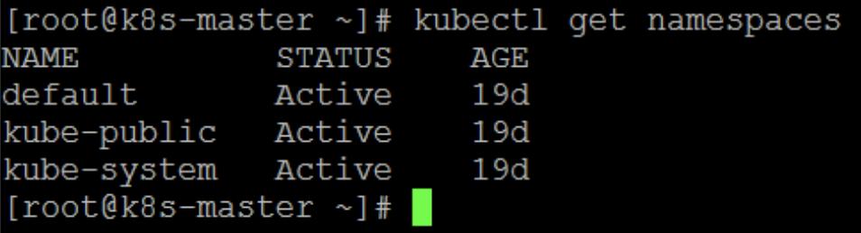 Kubectl get namespaces