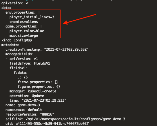 Creating a ConfigMap from a directory