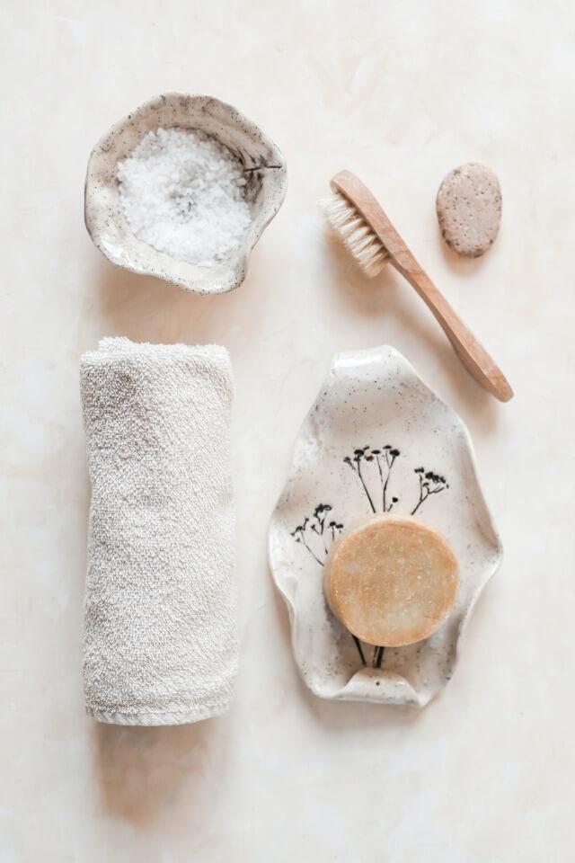 Handmade soap and ceramics