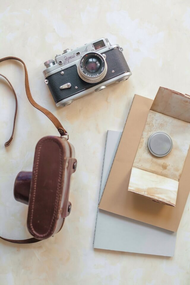 Leather case for camera