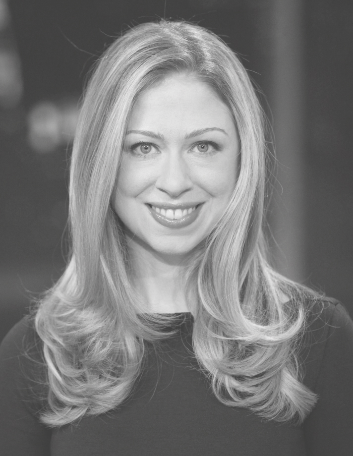 A headshot of Chelsea Clinton smiling at the camera.