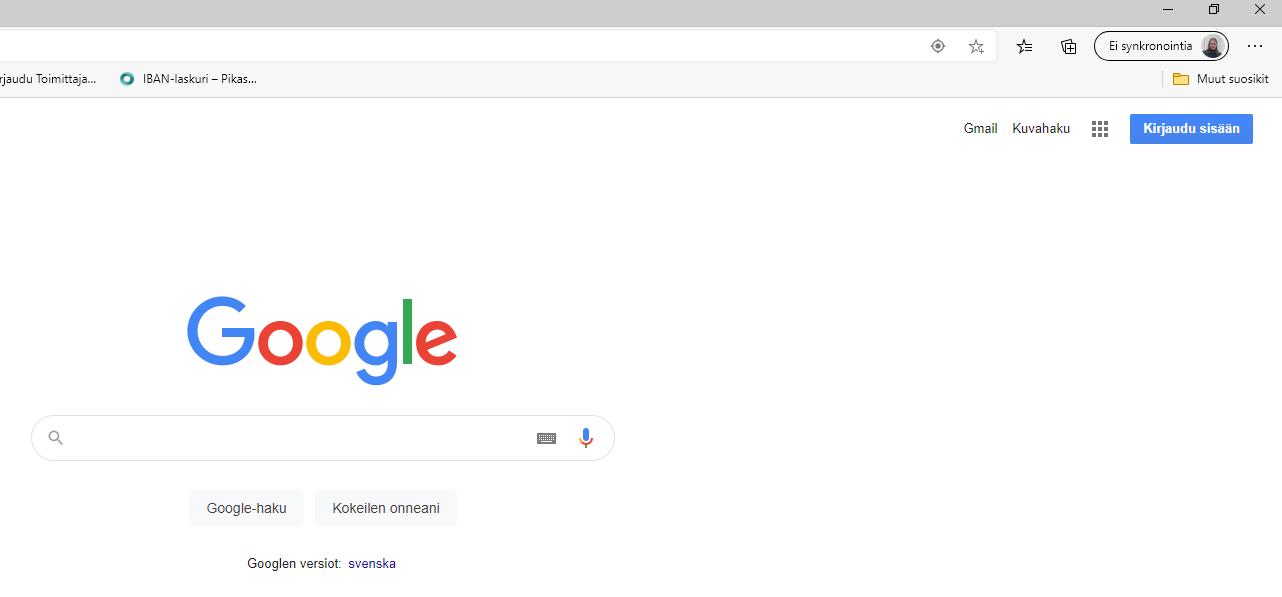 Googlen kirjautumissivu