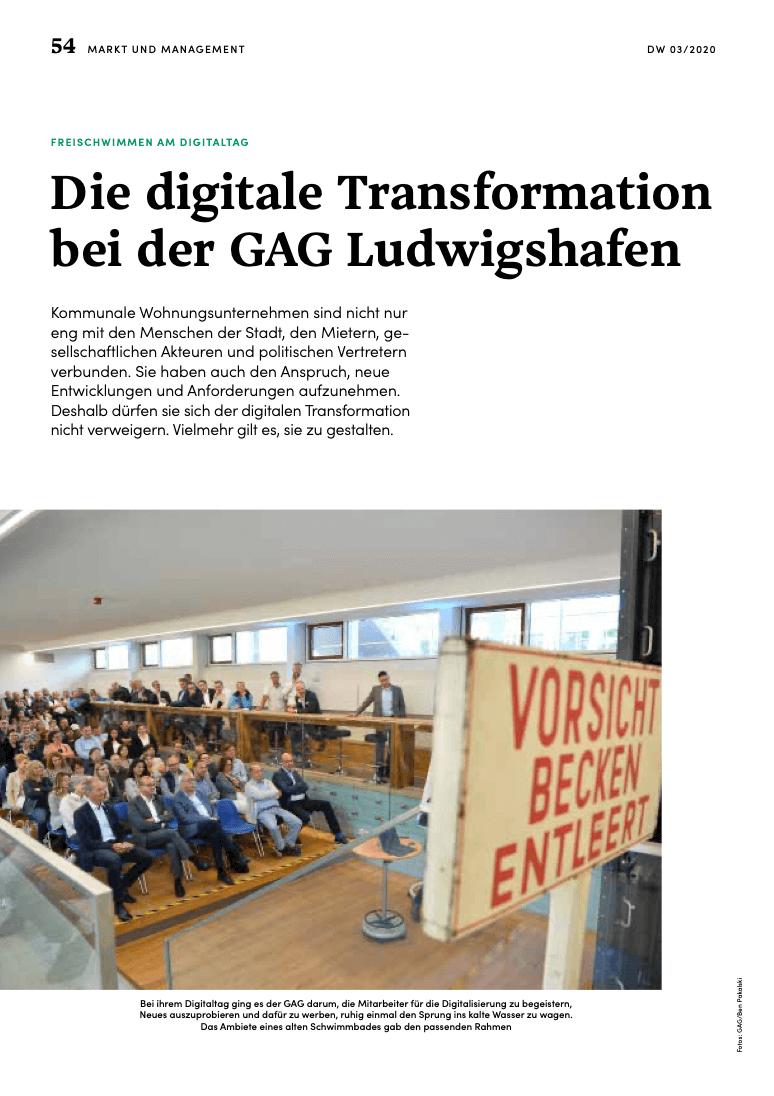 Fachbeitrag zur digitalen Transformation der GAG Ludwigshafen mit Wowinex