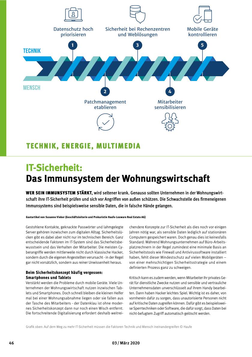 Whitepaper IT-Sicherheit für die Wohnungswirtschaft