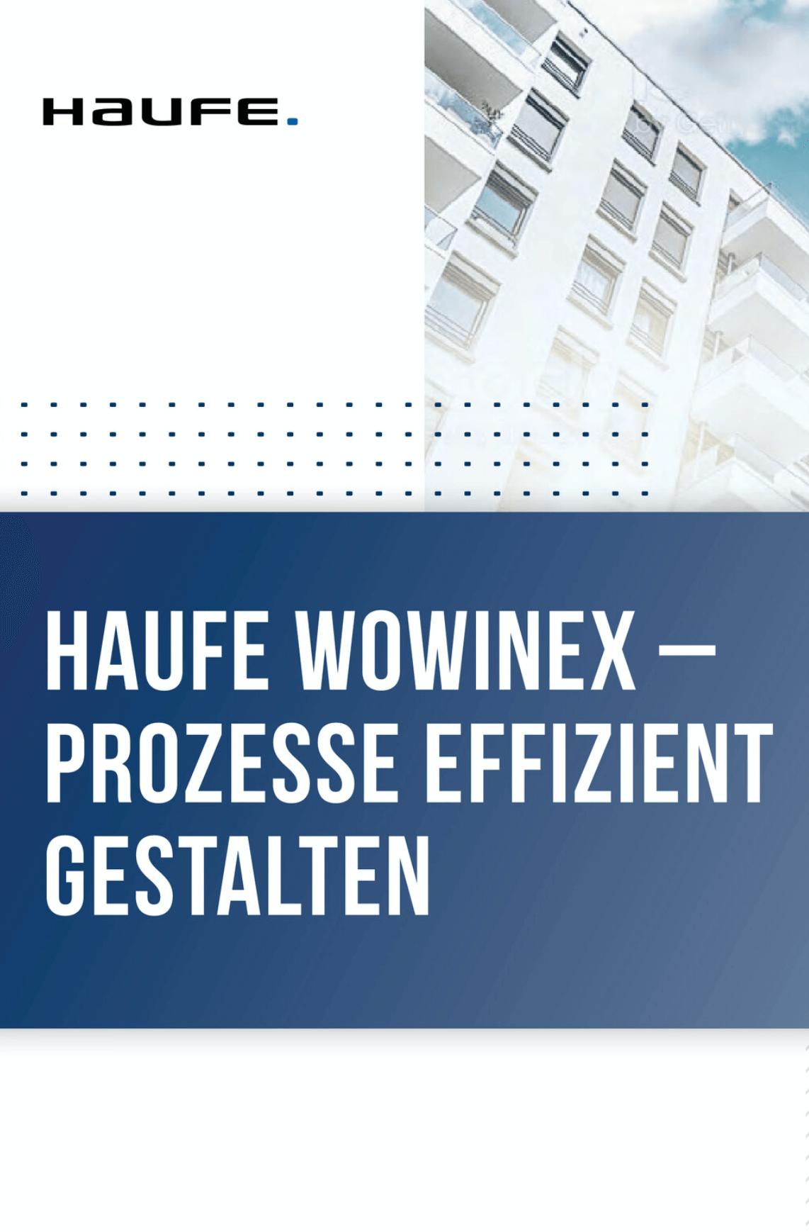 Produktbroschüre Haufe Wowinex für Immobilienverwalter