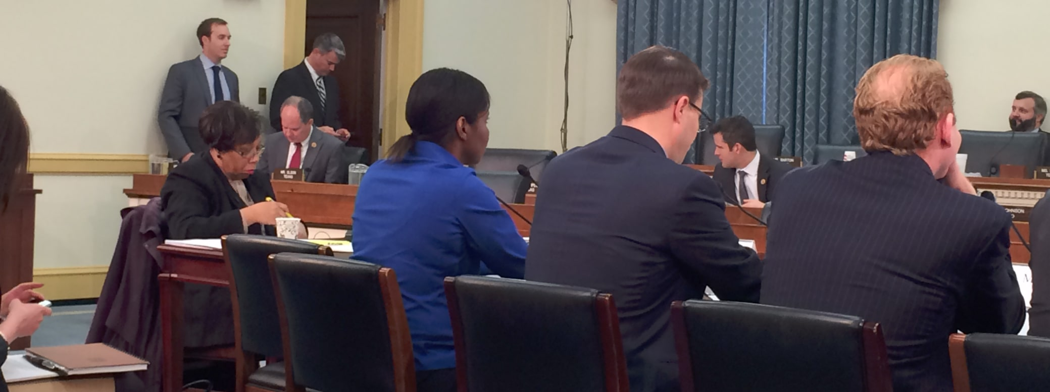 Briana Scurry giving testimony