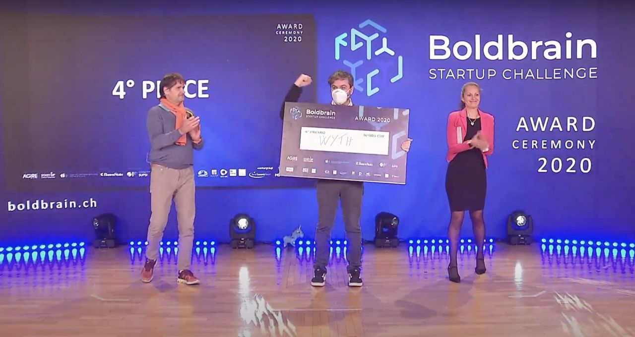 WYTH ranks fourth in the BoldBrain Start-up Challenge and wins a prize of 10,000 chf
