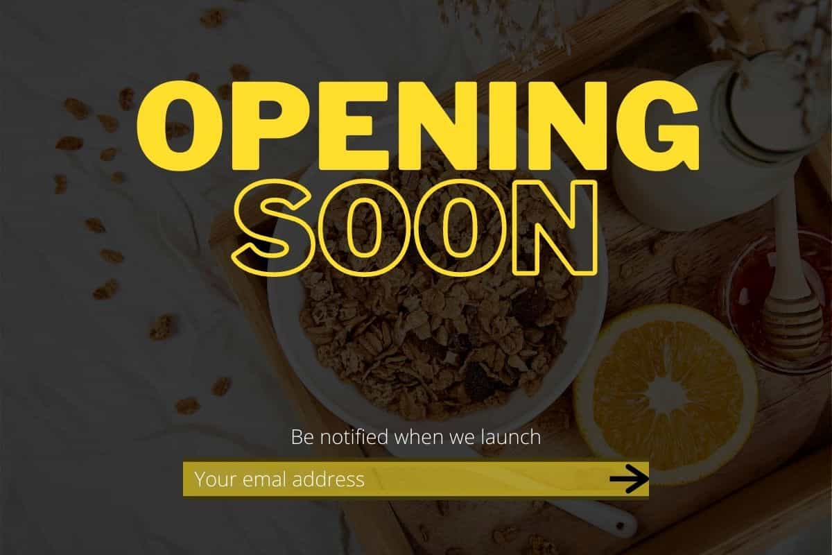 An example opening soon page