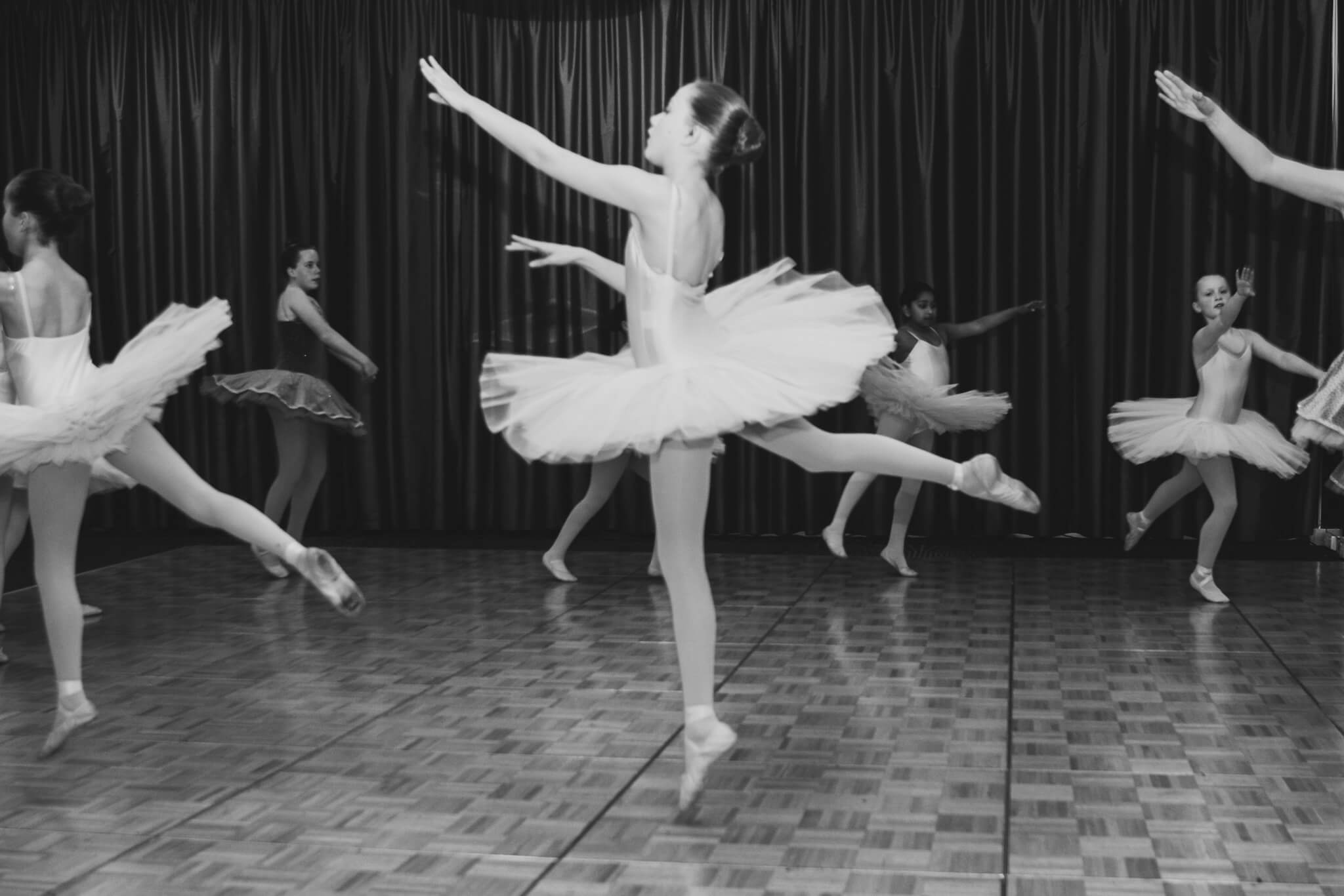 Dancers in a ball room