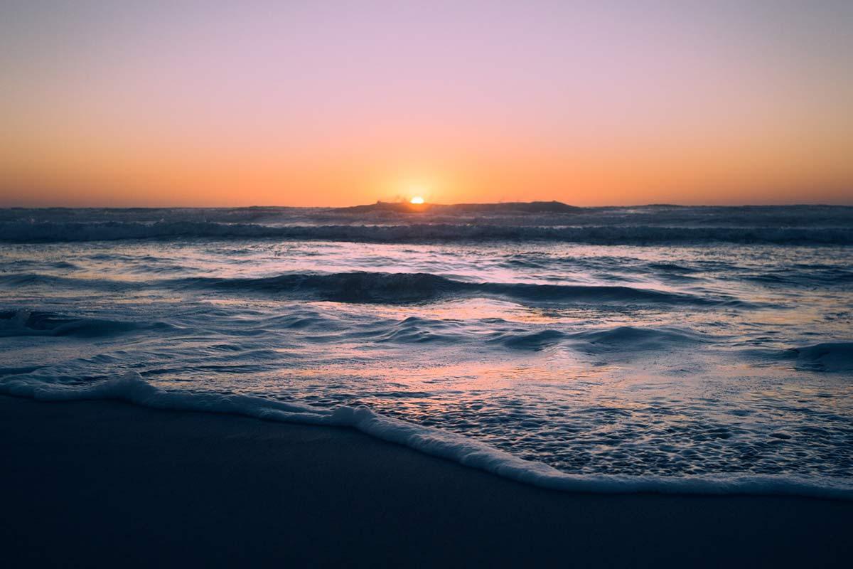 Solnedgång över havet  - Remainly