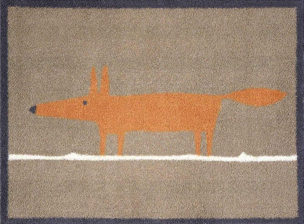 Mr Fox Door Mat (Brown)
