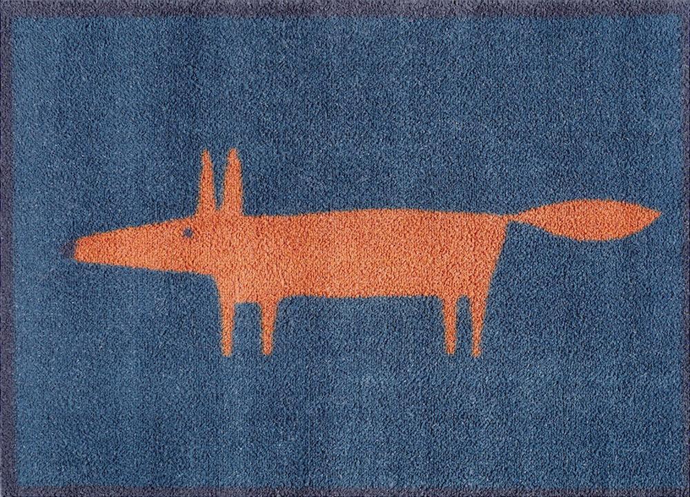 Mr Fox Door Mat (Navy)