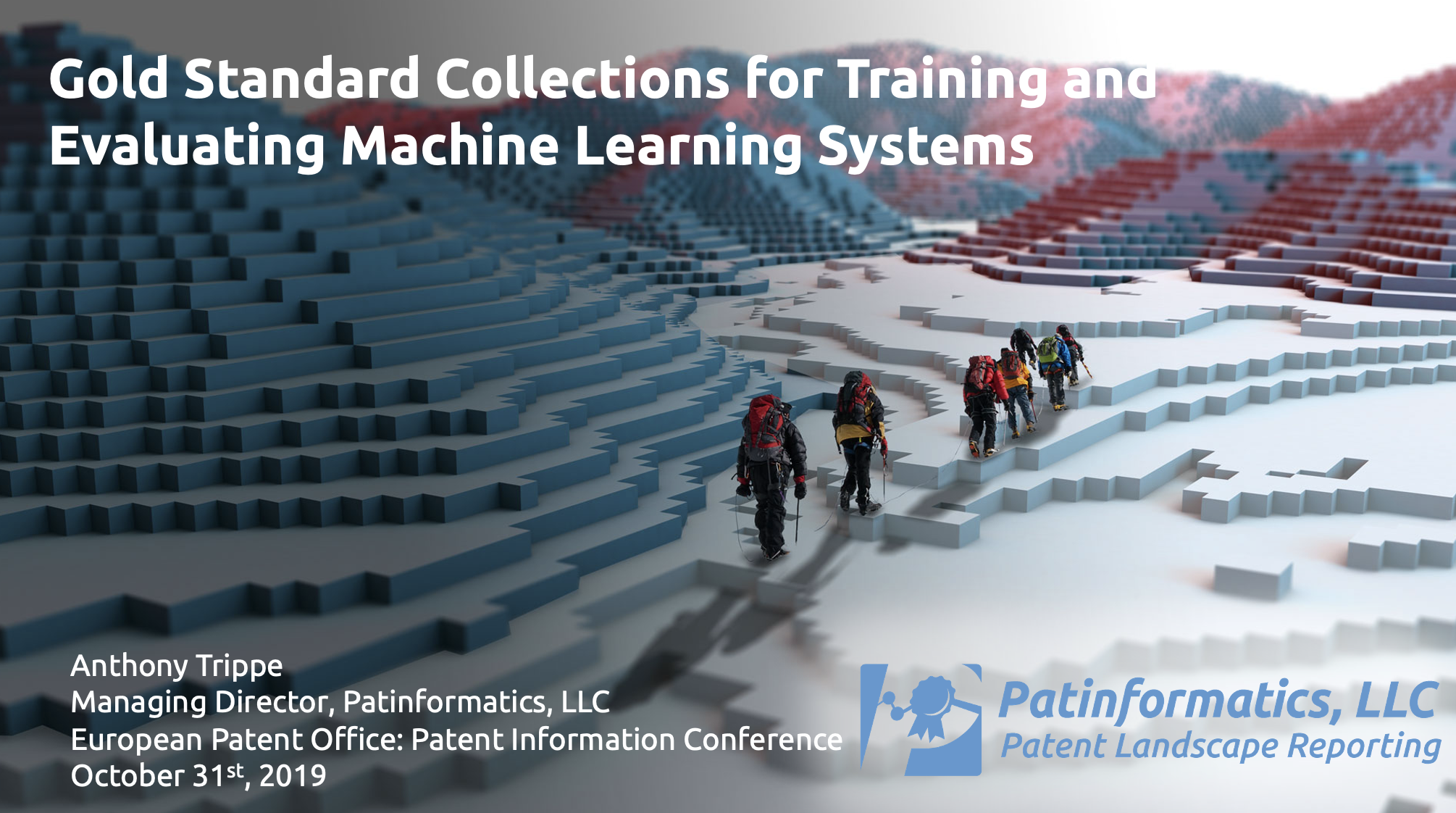 Gold Standard Collections for Training and Evaluating Machine Learning Systems EPO PIC 2019