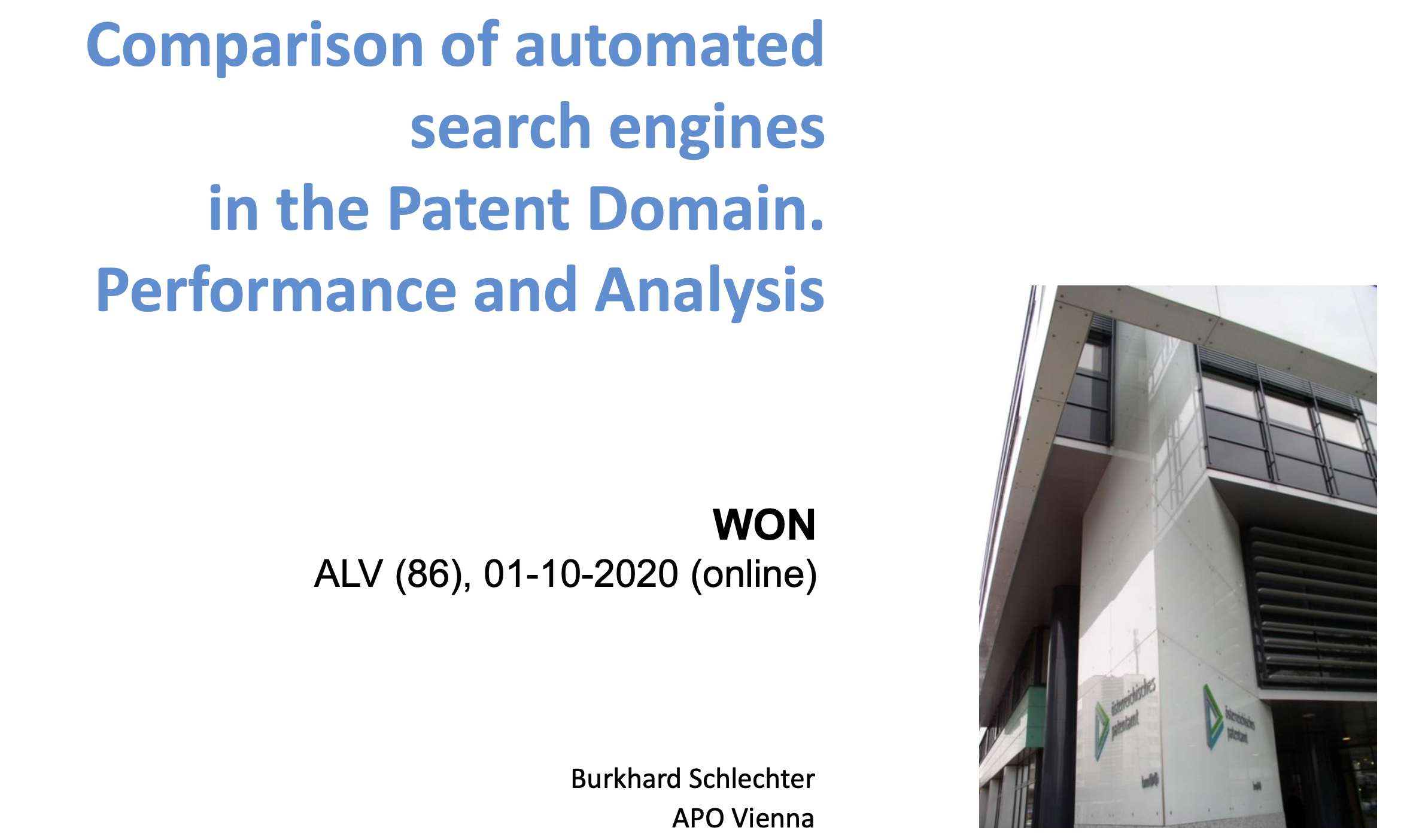 Comparison of Automated Search Engines in the Patent Domain: Performance and Analysis
