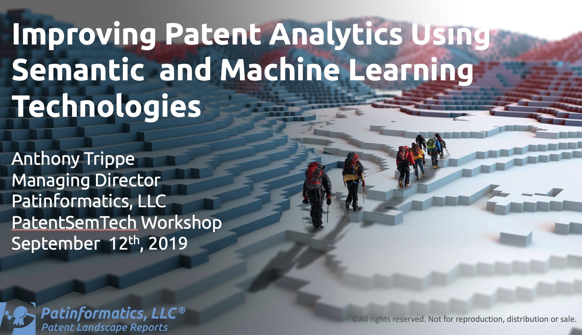 Improving Patent Analytics Using Semantic and Machine Learning Technologies