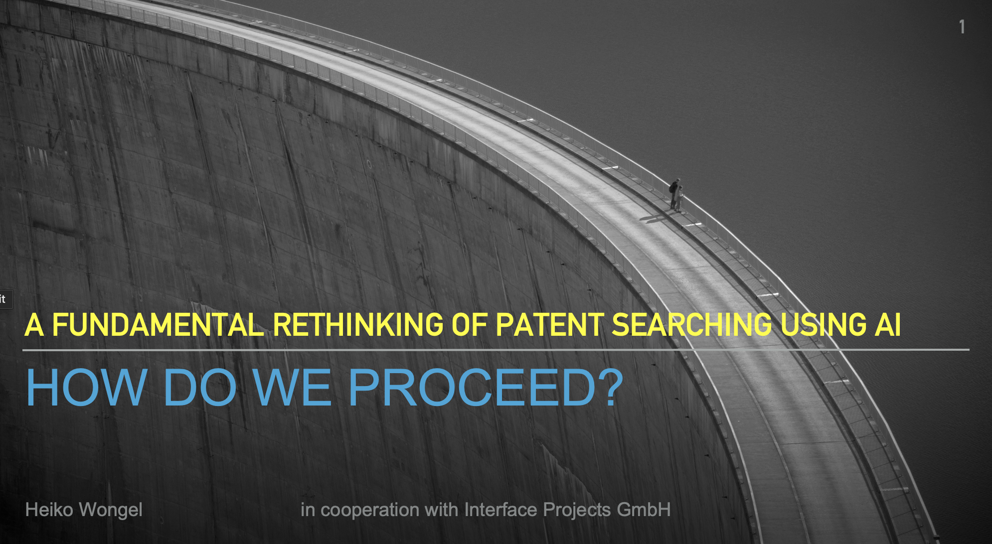 A Fundamental Rethinking of Patent Searching Using AI: How Do We Proceed?