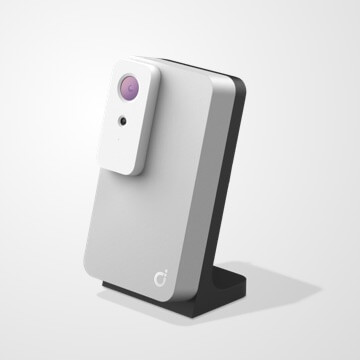 Darcy camera with a desk stand