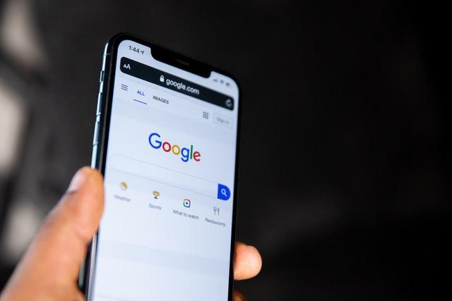 Google Chrome app displayed on a smartphone