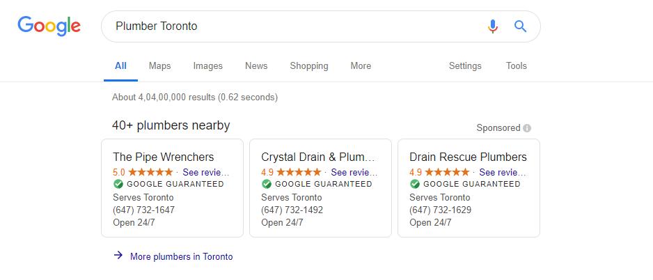 Google Guaranteed Display