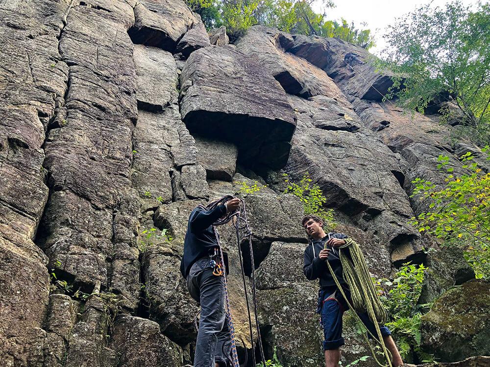 Climbing with Steve