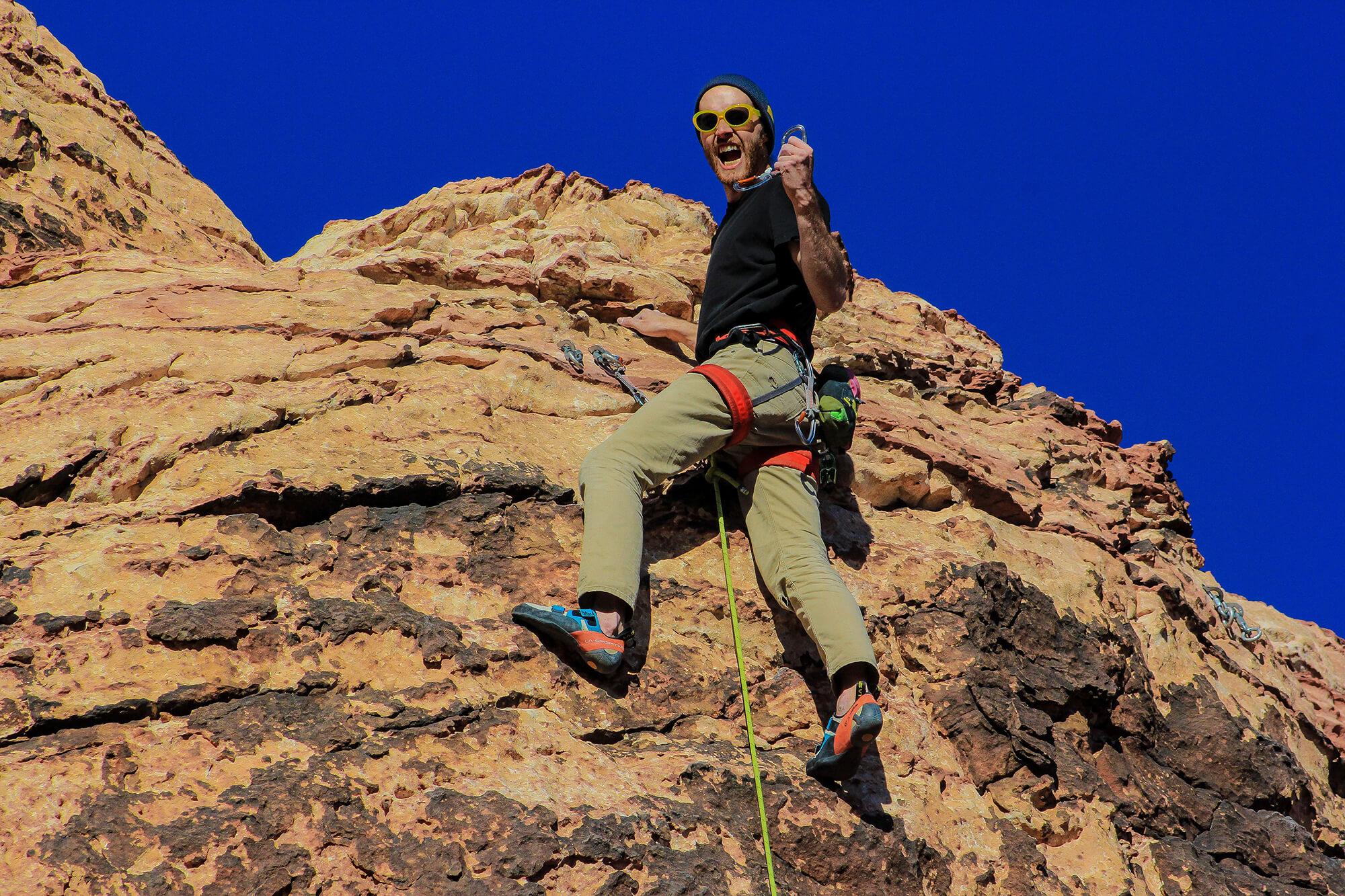 Dave Climbs Hard