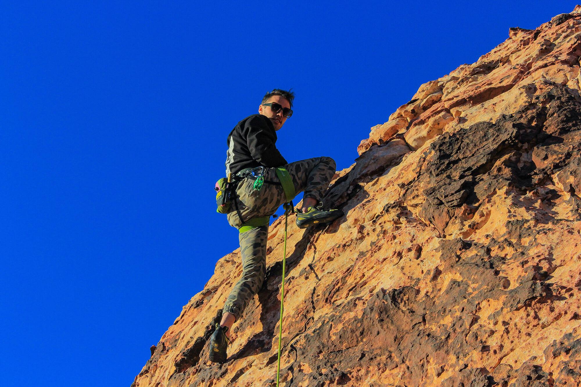 Kevin Climbs Hard
