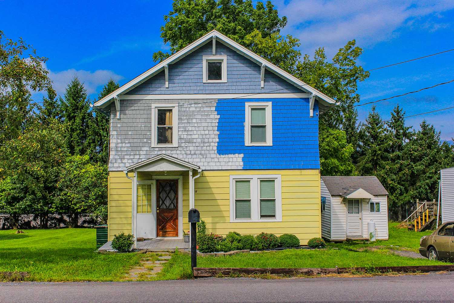 Yellow Blue House