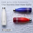 red white and blue le creuset stainless steel bottles