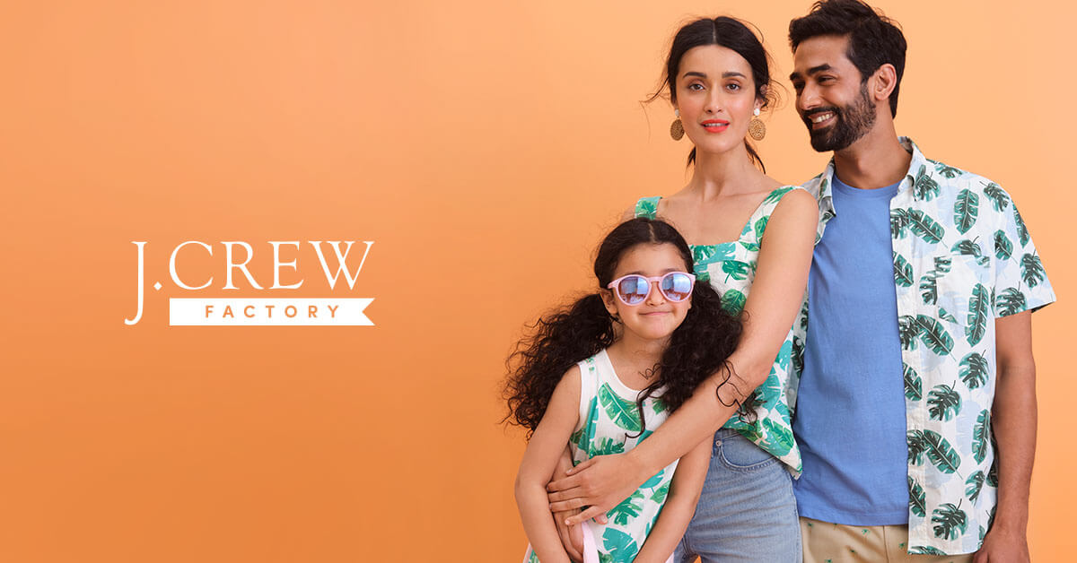 Family wearing J. Crew clothing
