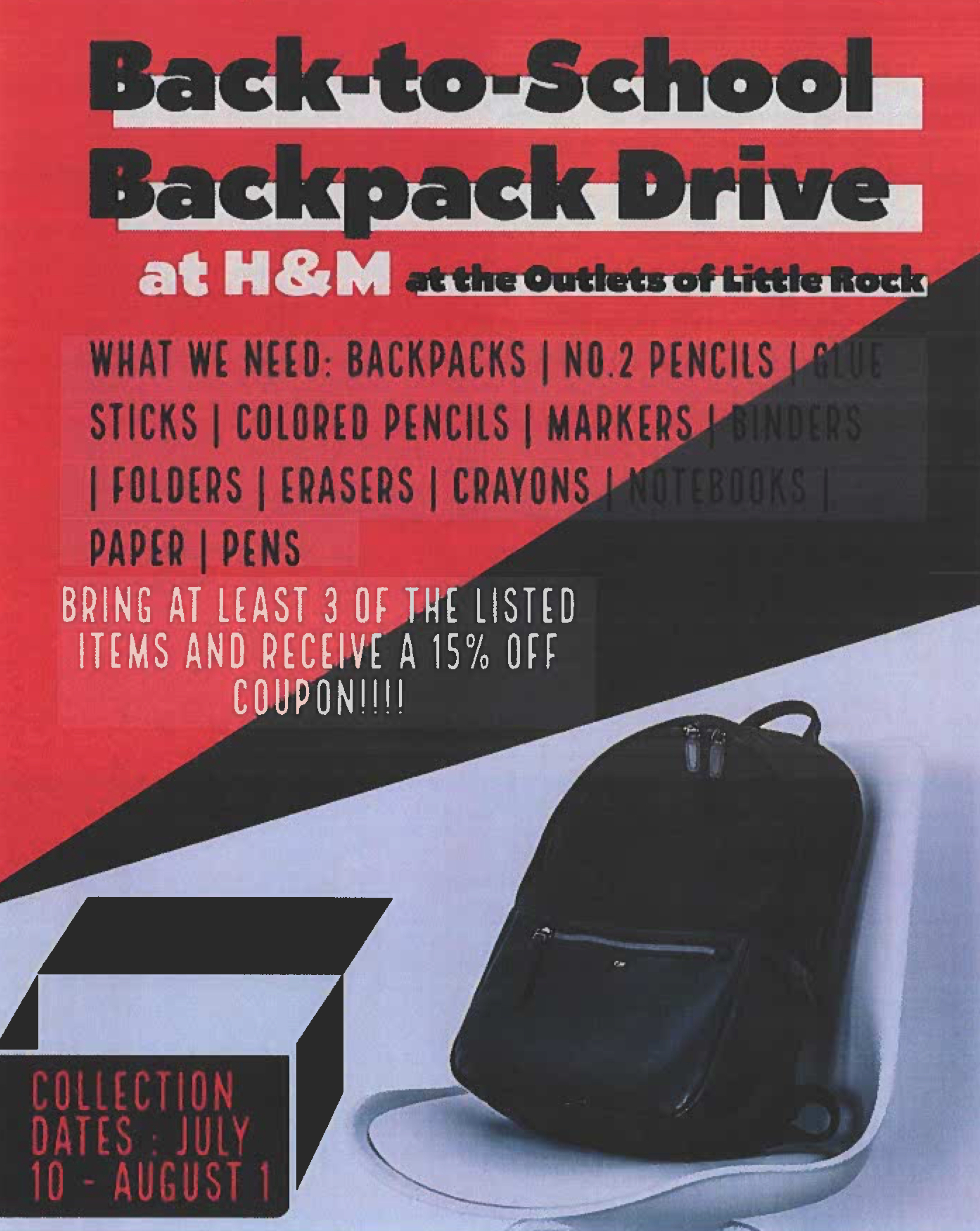 Back To School Back Pack Drive