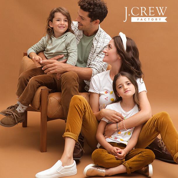 Family wearing J. Crew apparel