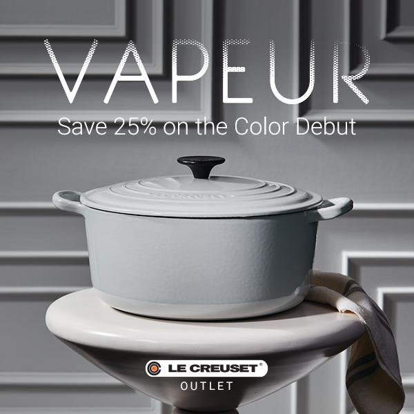 le creuset vapeur grey pot