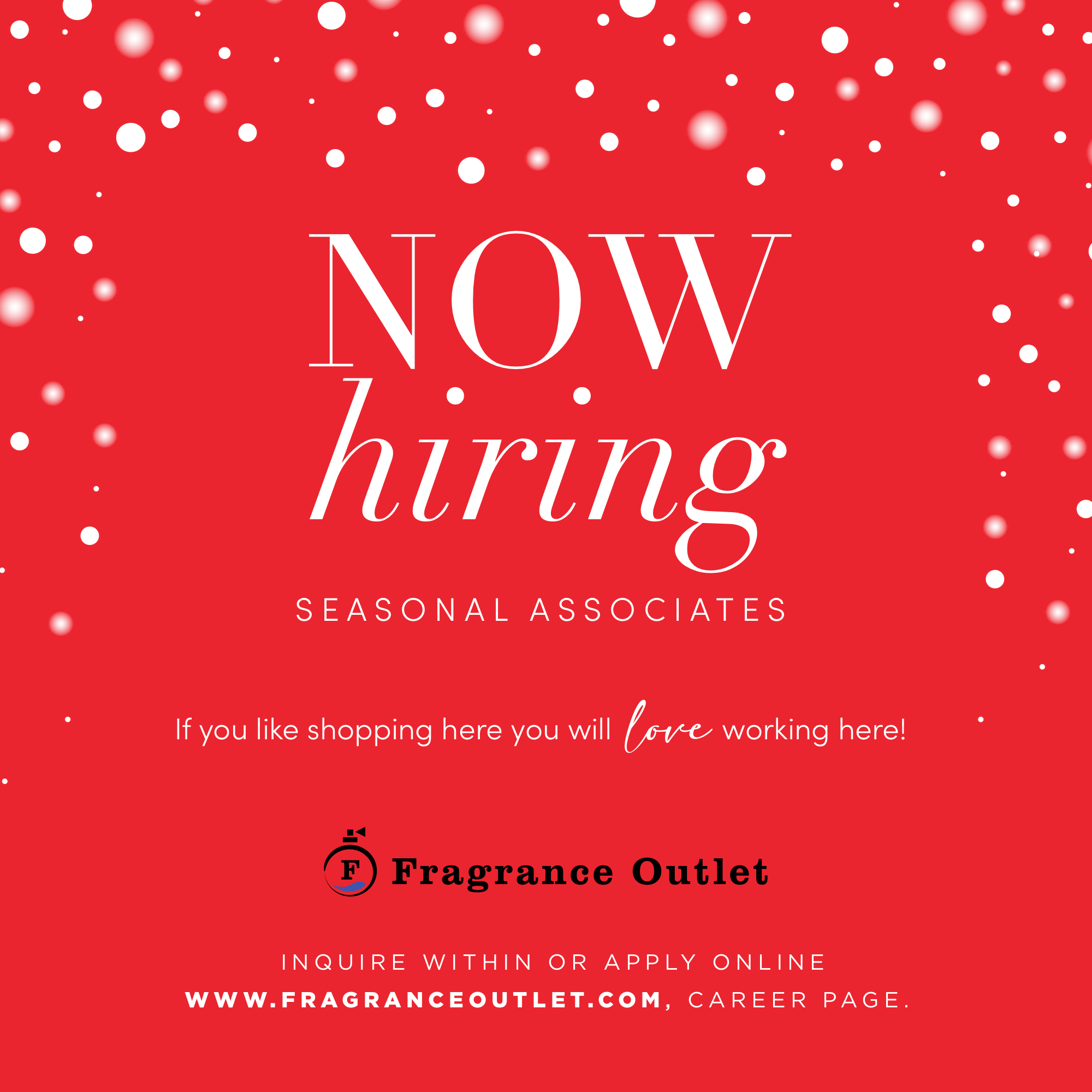 fragrance outlet hiring at outlets of little rock for season positions