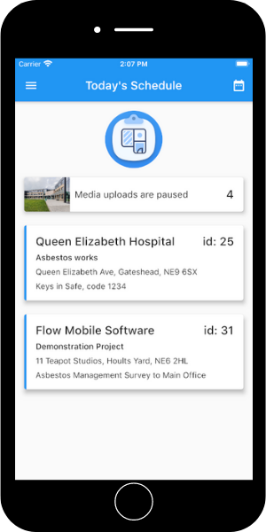 Complete asbestos surveys using your iPhone or Android device
